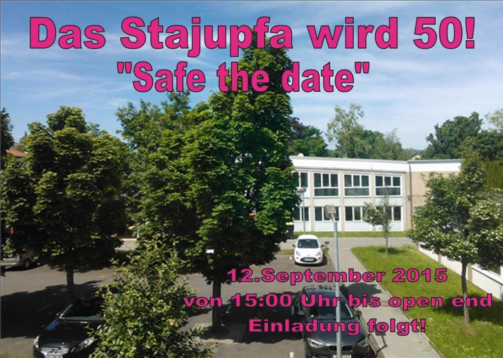 Flyer safe the date vor